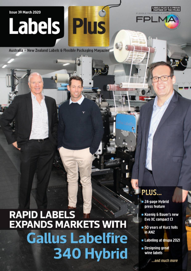Rapid Labels featured in Australia – New Zealand Labels and Flexible Packaging Magazine March Edition
